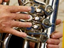 Fragment of tuba Royalty Free Stock Photos