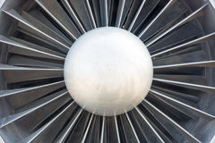 Fragment turbine aircraft engine. Cose-up. Stock Images
