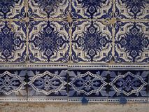 Fragment of typical Portuguese ceramic tiles Royalty Free Stock Image