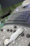 Fragment of ultrasound machine Stock Images