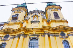 Fragment of the Ursuline Church in Linz in Austria Royalty Free Stock Photo