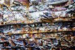Fragment van afzettingsgesteente stock afbeelding