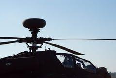 Fragment van aH-64d de Grote handboog van Apache Stock Foto's