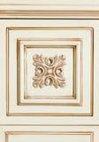 Fragment van beige houten meubilair Royalty-vrije Stock Foto
