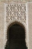 Fragment van de boog in het Spaanse Moorse kasteel stock foto