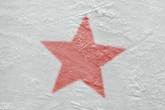 Fragment van de hockeyarena en het beeld van de rode ster royalty-vrije stock foto's