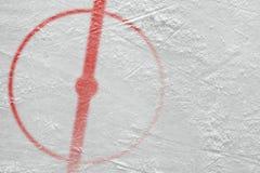 Fragment van de hockeyarena met een centrale cirkel royalty-vrije stock foto