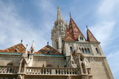 Fragment van de kathedraal in Boedapest stock afbeeldingen