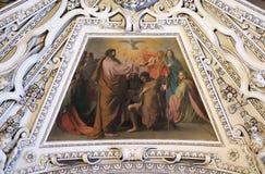 Fragment van de koepel in baptistery, de Kathedraal van Salzburg stock foto's