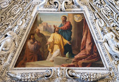 Fragment van de koepel in de Kapel van de Heilige Geest, de Kathedraal van Salzburg stock fotografie