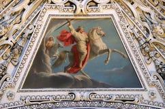 Fragment van de koepel in de Kapel van de Transfiguratie van Jesus, de Kathedraal van Salzburg royalty-vrije stock afbeeldingen