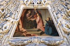 Fragment van de koepel in de Kapel van Heilige Ann, de Kathedraal van Salzburg stock afbeeldingen