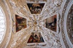 Fragment van de koepel in de Kapel van Heilige Charles Borromeo, de Kathedraal van Salzburg royalty-vrije stock foto