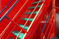 Fragment van de ladder aan het dek royalty-vrije stock foto