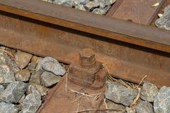 Fragment van de oude spoorweg royalty-vrije stock fotografie