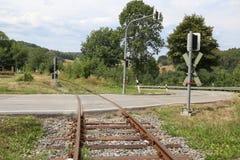 Fragment van de oude spoorweg stock afbeeldingen