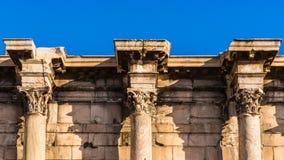 Fragment van de overblijfselen van de Bibliotheek van Hadrian Royalty-vrije Stock Foto's