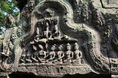 Fragment van de Tempel van Ta Prohm Royalty-vrije Stock Foto's
