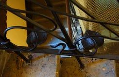 Fragment van de trap in de Art Nouveau-stijl Stock Foto