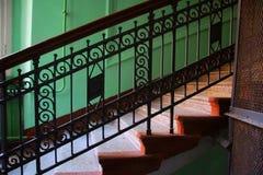 Fragment van de trap in de Art Nouveau-stijl Stock Foto's