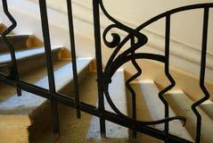 Fragment van de trap in de Art Nouveau-stijl Royalty-vrije Stock Foto