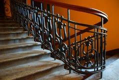 Fragment van de trap in de Art Nouveau-stijl Stock Fotografie