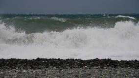 Fragment van de Zwarte Zee tijdens het onweer stock video