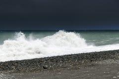 Fragment van de Zwarte Zee tijdens het onweer royalty-vrije stock afbeelding