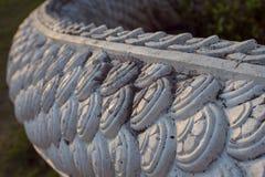 Fragment van draak` s huid in de Aziatische tempel royalty-vrije stock afbeelding