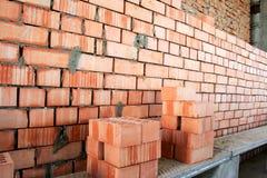 Fragment van een bakstenen muur Royalty-vrije Stock Foto