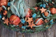 Fragment van een close-up van de Kerstmiskroon Stock Foto
