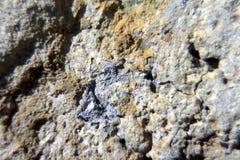 Fragment van een concrete muur met het gekleurde close-up van zandvlekken Concept energie Royalty-vrije Stock Foto