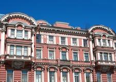 Fragment van een de bouwvoorzijde op Nevsky Prospekt Stock Foto's