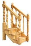 Fragment van een houten ladder Stock Foto's