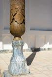 Fragment van een kolom in herdenkings complexe Bahouddin Naqshband stock afbeeldingen