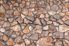 Fragment van een muur van een afgebroken steen royalty-vrije stock fotografie