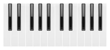 Fragment van een pianotoetsenbord Stock Afbeelding