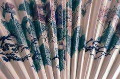 Fragment van een ventilator in de Japanse stijl stock foto's