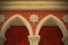 Fragment van het gebouw van weleer Royalty-vrije Stock Foto's