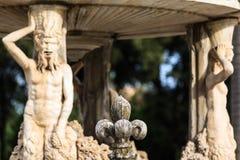 Fragment van het genoemde Slakkehuis van Fontain Bernini in Villa Doria Pamphili royalty-vrije stock fotografie