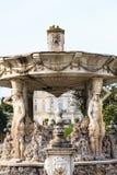 Fragment van het genoemde Slakkehuis van Fontain Bernini in Villa Doria Pamphili royalty-vrije stock afbeelding