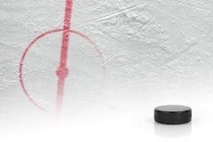 Fragment van het hockey van de ijshockeypiste stock fotografie