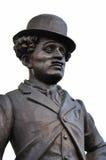 Fragment van het monument aan Charlie Chaplin. Stock Foto