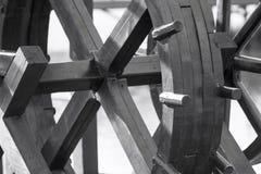 Fragment van het oude houten blok of het wiel royalty-vrije stock afbeelding