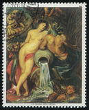 Fragment van het Schilderen Unie van Aarde en Water door Rubens Stock Fotografie
