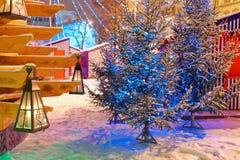 Fragment van kunstvoorwerp geroepen Kerstboom van liefde Royalty-vrije Stock Foto