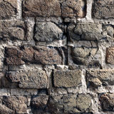 Fragment van Lutsk-KasteelBakstenen muur royalty-vrije stock foto's