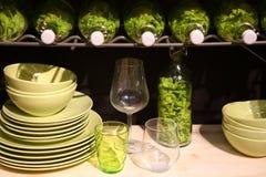 Fragment van moderne keuken Stock Afbeeldingen