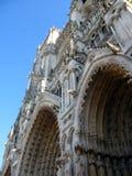 Fragment van Notre-Dame in Chartres Stock Foto