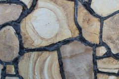 Fragment van omheining van grijze steen stock fotografie